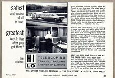 1969 Print Ad Snyder Hi-Lo Telescoping Travel Trailers Butler,Ohio