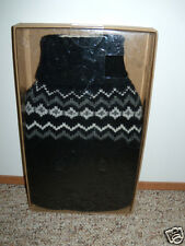 NIB Aroma Home Fair Isle Black Gray Sweater Hot Water Bottle NEW