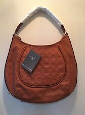 NWT LANCEL Dali Daligramme Embossed Leather Hobo Shoulder Handbag