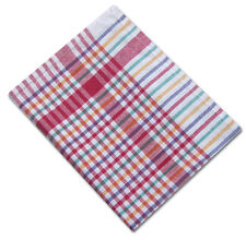 10 x Large Colour Check Tea Towel Dish Drying Heavy Cleaning Cloth 100% Cotton