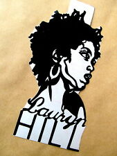 "LAURYN HILL, Original Pop Art, Music Celebrities decal Sticker 3""X 6"" inches"