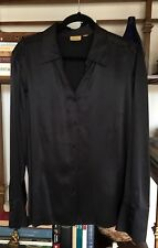 Caslon Black Silk Blouse, Plus 2X,