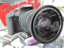 CPL Ultra Wide Angle Macro Fisheye Lens for Canon Eos Digital Rebel SL1 T6/5 XTi