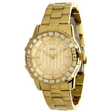 NEW GUESS DAZZLING GOLD BRACELET SPORT PETITE SWAROVSKI LADY WATCH U0018L2 NWT