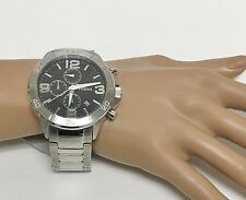 NEW FOSSIL SILVER TONE,STAINLESS STEEL,CHRONOGRAPH,BRACELET WATCH BQ2182