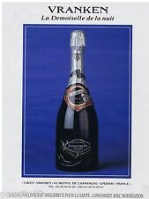 PUBLICITE ADVERTISING 105  1993  CHAMPAGNE  DEMOISELLE   VRANKEN