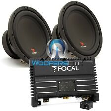 "pkg FOCAL SOLID1 BLACK MONOBLOCK AMPLIFIER + (2) SUB P25 10"" SUBWOOFERS SPEAKERS"
