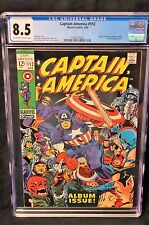 CAPTAIN AMERICA #112 CGC 8.5 OW/W PAGES 1969 MARVEL