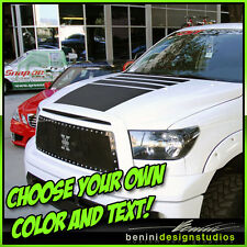2007 -2013 Toyota Tundra TRD Hood Blackout Stripes Decal Fully Custom! Style 2