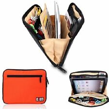 Multi Organiser Carry Bag iPad, Tablets, Hard Drives Portable Pouch Bag - Orange