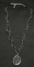 SILPADA - N1895 - Foiled Glass Bead Necklace with Matrix Pendant