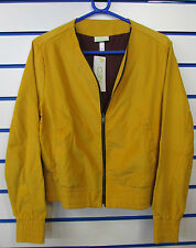 SIZE 12-14 MEDIUM - ADIDAS NEO STRAIGHT CORDUROY FULL ZIP JACKET - CRAFT GOLD