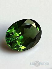Chrome Diopside. Oval 10x8mm. 2.85 Ct. Created Gemstone Nanosital. US@GEMS