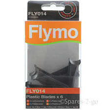 6 x FLYMO Minimo Lawnmower Plastic Cutter Blades FLY014 Genuine Spare Part