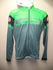 AUTHENTIC CASTELLI NWT UNAVOLTA JERSEY-MEN'S L-GRAY/GREEN-PERFECT FOR FALL !!