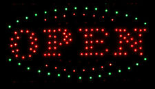 New Bright LED FLASHING Neon Shop Display OPEN Sign Business 48cm x 25cm CD