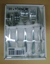 20pc Ikea Fornuft Flatware Silverware Set, Spoon Fork Knife, New in box