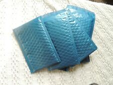 100 Metallic Blue 4x8 Bubble Mailers, Padded Bubble Shipping Mailing Envelopes