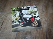 Catalogue /  Original brochure  HONDA Scooters & Motos 125 cm3 2014 //