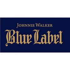 Johnnie Walker Blue Label Sticker Decal Vinyl Logo 2 Pieces