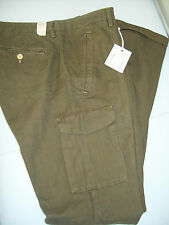 Gant Rugger Cotton Twill Cargo Style Pants NWT 36 x 34  $175 Dark Olive Green