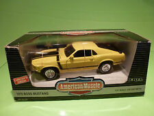 ERTL AMERICAN MUSCLE 7484 FORD MUSTANG BOSS 302 1970 - YELLOW 1:18 - NMIB