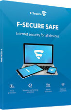 F-Secure Sicurezza Internet Security 2017 3 dispositivi PC 1 ANNO RETAIL Box Pack