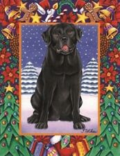 Black Lab dog lover gift New in pkg.12x18 Garden size Christmas Holiday flag