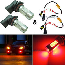 2Pcs High Power Red 9005 HB3 9011 LED Bulbs For Car Fog Lights & Canbus Decoder