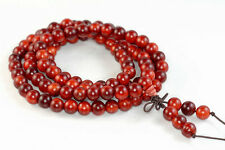 8mm 108PCS Natural Bloodwood Red Agathis Alba Mala Meditation Beads Round 33""