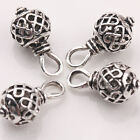 10Pcs 20*10mm Hollow Out Tibetan Silver Charm Jewelry Beads Pendant Findings