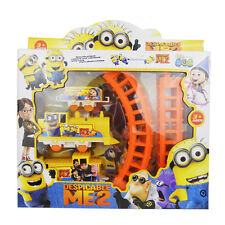 Cute Movie Minions Figures Electric Train Track Set Kids Baby Boy Girl Toy Gift