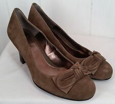 Sofft Womens Grigny heels suede taupe leather Shoes size 8M