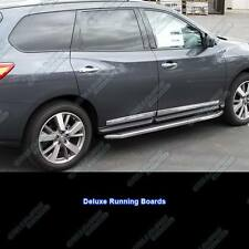 "Fits 2013-2016 Nissan Pathfinder 80"" Deluxe Side Step Nerf Running Boards"