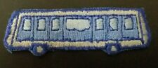 BLUE TRANSIT BUS Iron or Sew-On Patch