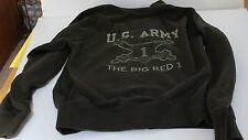 """U.S. Army First Infantry Division """" The Big Red 1"""" Zippered Jacket Size Small"""