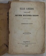WALTER SCOTT ALLAN CAMERON ALESSANDRO MAGNI TRADUZIONE 1841 1 EDIZIONE ROMANZO