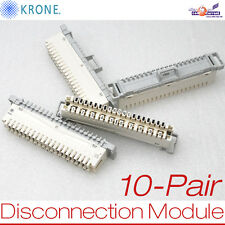 NEW 10-PATR DISCONNECTION MODUL KRONE PBT-FR LSA-PLUS PLINTS TI22780 E22780 NEU