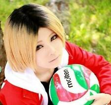 Haikyu!! Kenma Kozume Hair Cosplay Costume Wigs Golden Black Mixed D34
