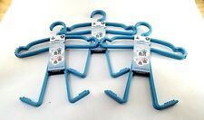 Plastic Childrens Kids Boys NEW Outfit Hangers Shirt Pants Shorts Blue Lot of 6