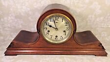 Antique New Haven Tambour Case Clock Rare & Unique Case Westminster Chimes Runs