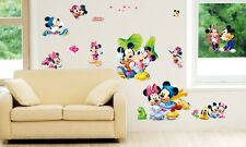 Mickey Minnie Mouse PVC Removable Wall Sticker Quote Children Bedroom Decor DIY