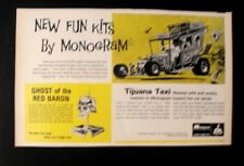 1969 Ghost Red Baron Skull Bobble Head Monogram Model Kit Toy Memorabilia Art AD