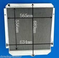 "CUSTOM Universal  Aluminum Radiator Oversize 27.1""wide 24.9""high 6.89"" thick"