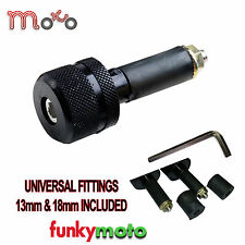 UNIVERSAL MOTORBIKE BARENDS 13MM-18MM BAR END WEIGHTS PAIR BLACK BE111