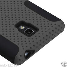 LG Optimus L9 T-Mobile P769 Mesh Hybrid Case Skin Cover Accessory Gray Black
