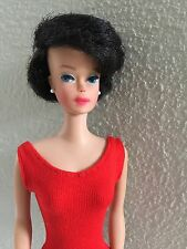 Bubble Cut Barbie Doll Brunette Raven Black Hair OSS accessories Vintage 60's