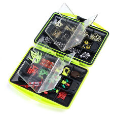 Assorted Fishing Tools Fish Tackles Swivels Lures Baits JIG Head Hooks Kit Box