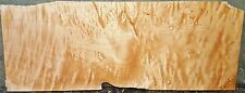 Curly Quilted Maple Wood #5802 Luthier One PC Guitar Top 36x14x3/8