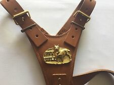 Brown PIT BULL Leather Harness - BRAND NEW TOP QUALITY LEATHER